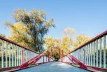 Реконструкция пешеходного моста через реку Остравица, Фридек-Мистек, Чехия