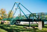 Мост для велосипедистов и пешеходов через реку Остравица, Фридек-Мистек, Чехия