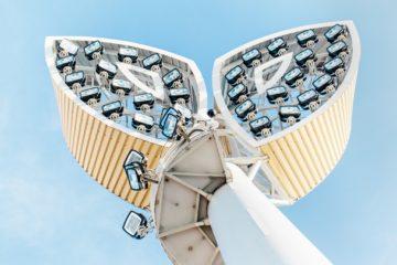 Osvětlovací stožáry sportovního areálu, Uherské Hradiště